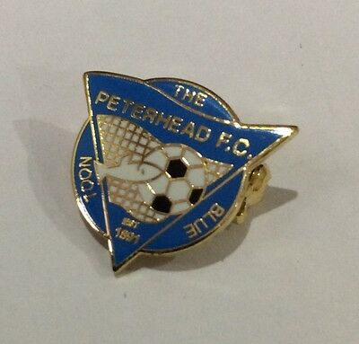 PETERHEAD Football Club Badge FC Enamel Supporters Pin Scotland SCOTTISH