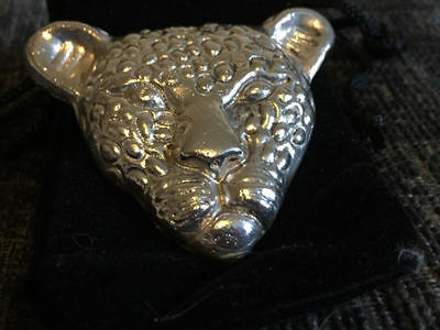 Silver Leopard Approx 2.5 Ozt 999fs Hand Poured Bullion
