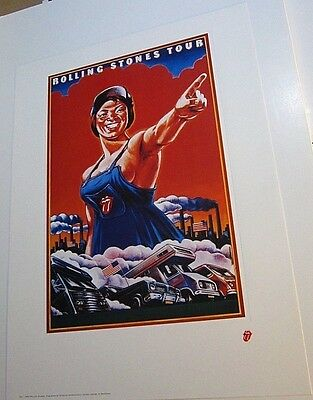 Rolling Stones Tour Lithograph 1994 Poster Art