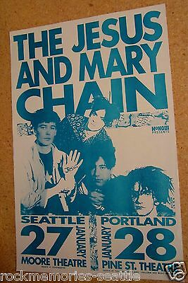 JESUS MARY CHAIN 1990 Original Concert Gig Poster Mike King