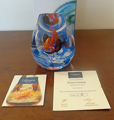 Caithness Glass L13078 OCEAN CROSSING Paperweight, Limited Edition Of 100.