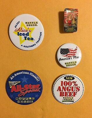 Collectable Vintage Waffle House Pin Lot 12