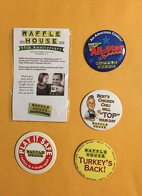 Collectable Vintage Waffle House Pin Lot 6