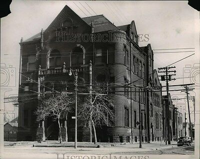 1955 Press Photo Police Headquarters at West 29 Street and Detroit Avenue