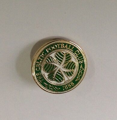 """GLASGOW CELTIC Football Club Badge FC """"VERY SMALL"""" ENAMEL SUPPORTERS PIN"""