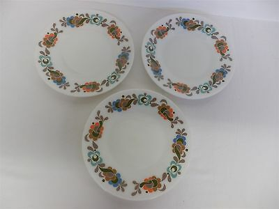 Vintage Pyrex JAJ Carnaby 3 x Large Round Dinner Plate - Retro 70s Kitchen (7)