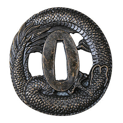 Japanese Dragon Fly Tsuba Zinc Alloy For Katana Tanto Wakizashi Guard