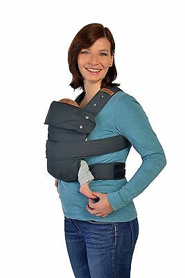 Marsupi Compact Front and Hip Baby Carrier in Charcoal - SAME DAY DISPATCH