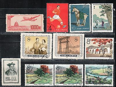 1951-62 China stamps, collection, MH & used