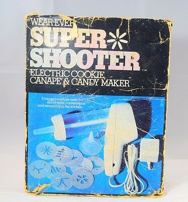 WearEver Super Shooter 1No 70001 Electric Cookie Gun Canape Candy Maker Complete