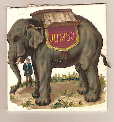 Jumbo the Elephant Victorian die cut in color
