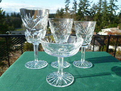Waterford Crystal ASHLING Water + Red & White Wines + Champagne Goblets