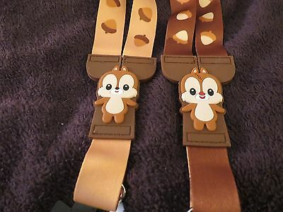 New Disney Parks Chip and Dale Cuties Reversible Lanyard