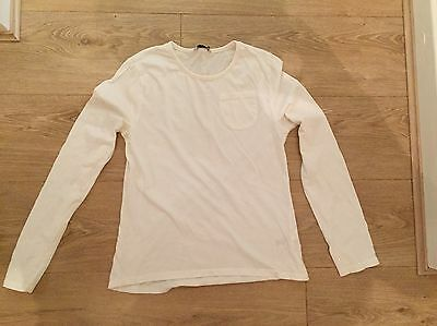 Girls George White  Long Sleeve Cotton Top Age 13-14 Summer/holiday