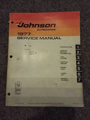 Johnson Outboard Motor Service Manual 1977 - Marine, Boat, Outboards