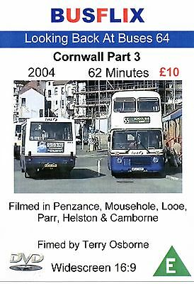 Looking Back at Buses 64 Cornwall Part 3 DVD Film from 2004