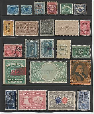 USA, Back of the Book selection incl Carriers, Seals & Playing Cards stamps