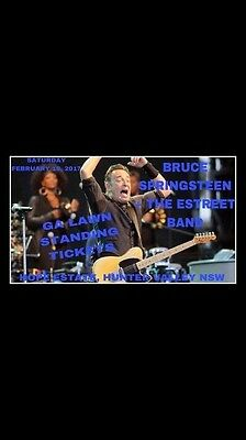Bruce Springsteen Concert Tickets x 2 Hopes Estate Hunter Valley At Cost
