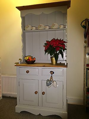 Beautiful Rustic Solid Pine Kitchen Dresser with Drawers