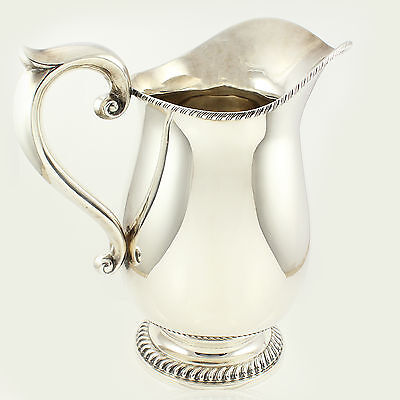 "VINTAGE Ellmore Sterling Silver WATER PITCHER 9 1/2"" Gadroon Detail 719.5 grams"