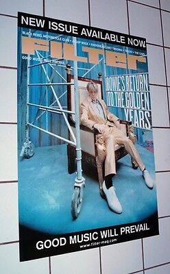David Bowie *rare* 2003 Filter Magazine Poster Large 24X36 *1000 Made* Reality