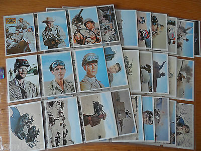 Topps The Rat Patrol 1966 Full Set Excellent (Very Rare)