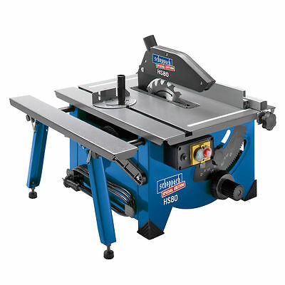 """Scheppach HS80 8"""" Table Top Sawbench 240V complete with Sliding side extension"""