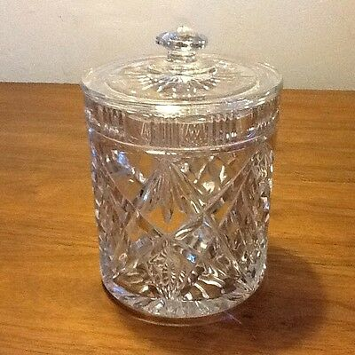 QUALITY Vintage Crystal Cut Glass Bonbon/biscuits/Sweets Jar