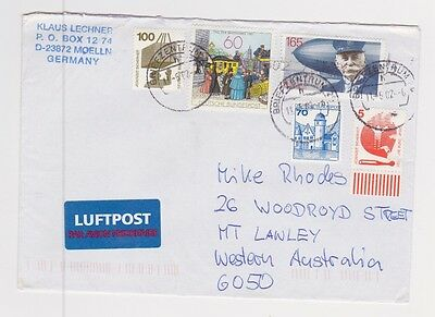 Germany 2002 Multi-Franked Priority Airmail Cover to Australia