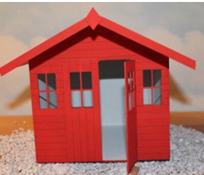 """Dolls house Bournemouth beach hut chalet Kit 1/4"""" scale 1/48th"""