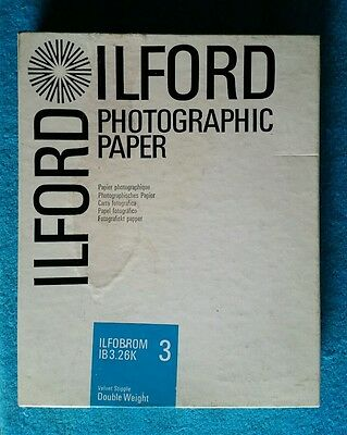 ILFORD Vintage Photographic Paper 8x10 Velvet Stipple Double Weight 100 sheets