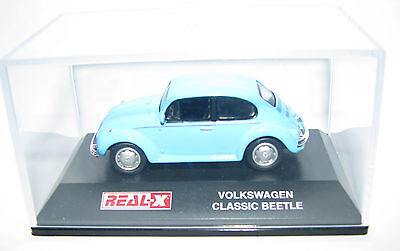 Real X 1:87 Classic VW Beetle in Acrylic Case