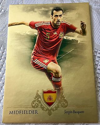 2016 Futera Unique - Gold - Sergio Busquets - Spain - #05 of 11