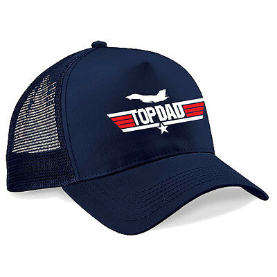Top Dad Top Gun Movie Cap Fathers Day Gift Christmas Birthday Present