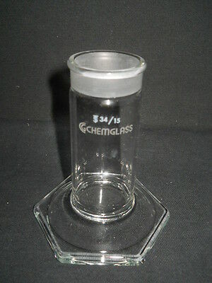 "Chemglass 1"" x 3"" Plate TLC Developing Chamber Bottom with 34/15 Joint"