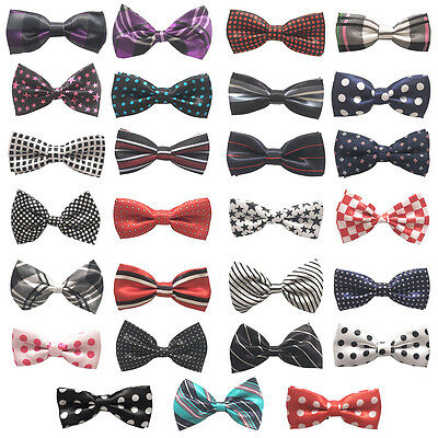 Children Kid Pre Tied Bow Tie Boys Toddler Infant Bowtie Wedding Party Necktie