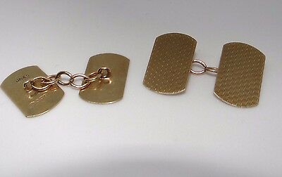 HENRY GRIFFITHS & SON VINTAGE 1935  9ct GOLD CUFFLINKS