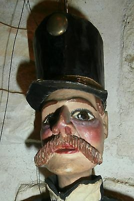 EXCEPTIONAL  antique WOOD wooden CARVED *  soldier* doll/ puppet  ALL ORIGINAL