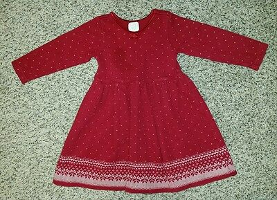 GORGEOUS!  Girl's Baby GAP Red Sweater Dress Sz 3T