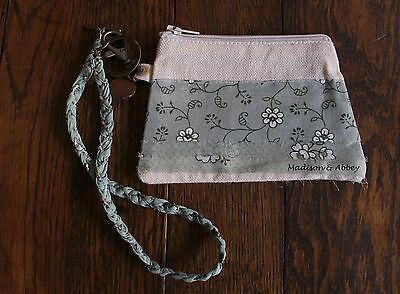 Free At Last ~ Fabric Coin Purse/Id Case & Key Holder ~ Braided Chain  ~ NWT