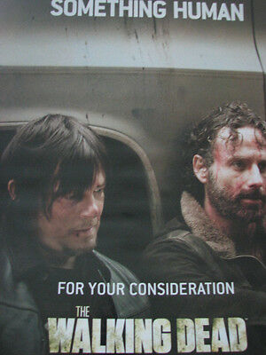 Walking Dead Andrew Lincoln, Norman Reedus after fight Something Human Emmy Ad