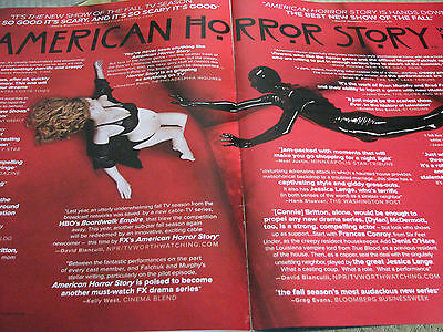 American Horror Story Rubberman Jessica Lange  RARE  EMMY AD