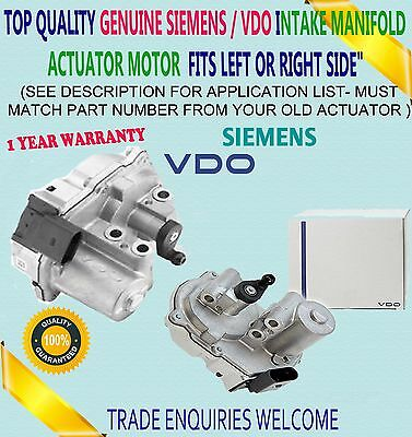 Vdo Intake Manifold Air Flap Actuator Motor Audi Vw 2.7 3.0 Left Or Right Side