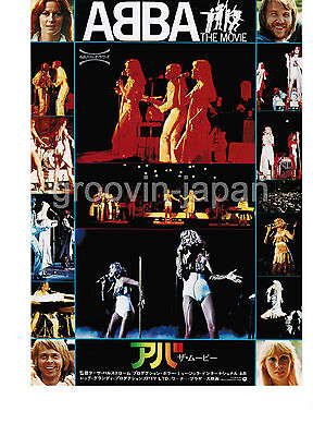 ABBA The Movie B5 MOVIE FLYER JAPAN PROMO-ONLY No creases, few brown spots