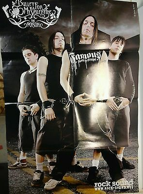 """Fightstar / Bullet For My Valentine Rock Sound Magazine 2 Sided 32""""x21"""" Poster"""