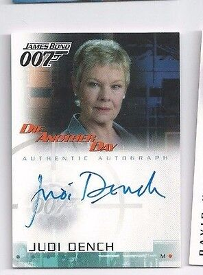 James Bond 007 A2 Die Another Day Judy Dench as M autograph