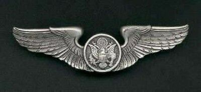 US Air Force Aircrew Wings A/C USAF Badge with silver finish