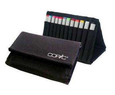 Copic 24 Marker Carry Wallet Black With Coloured Markers