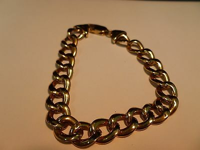 9CT Yellow Gold Hollow Link Bracelet