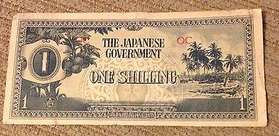 Japanese Occupation Currency 1 Shilling NICE